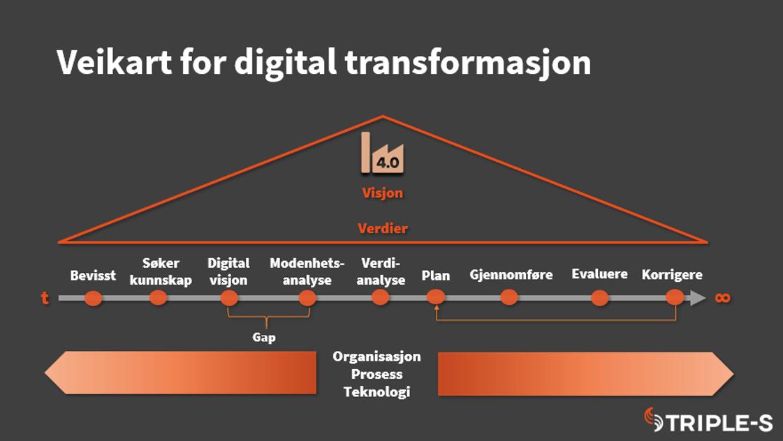 veikart for digital transformasjon